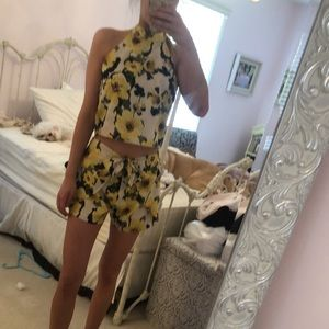 TopShop sunflower two piece outfit